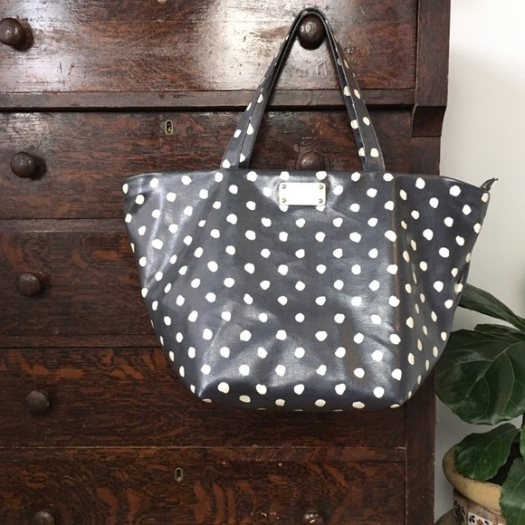 kate spade Handbags - Kate Spade polka dot coated canvas tote